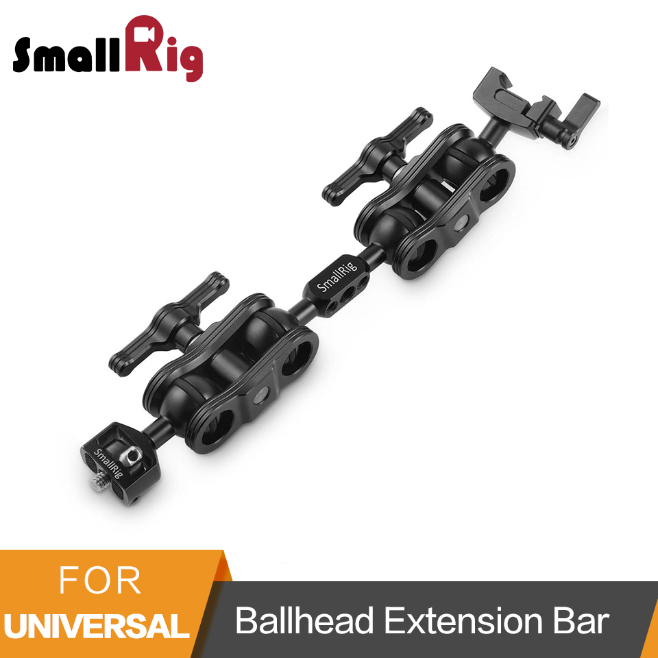 SmallRig Universal Ballhead Extension Bar for Magic Arms With 1/4 Screw and NATO Clamp -2110 smallrig dual aluminum camera articulating arm ballhead extension bar for magic arms 1 4 screws dslr monitor support 2109
