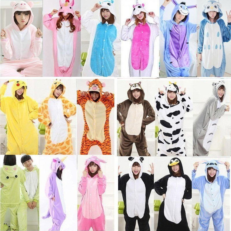Men/women Warm Unicornio Sleepwear Onesis For Adults Winter Couple Pajamas Unicorn Animals Funny Pajamas Pyjama Pijama