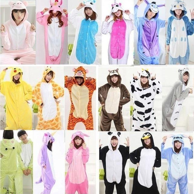 Мужская женская теплая Пижама unicornio onesis для взрослых зимняя пара  пижамы единорог животные забавные пижамы 1b6c952baf7f5