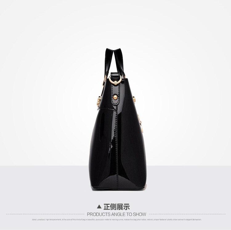 crossbody saco de alta qualidade couro patente