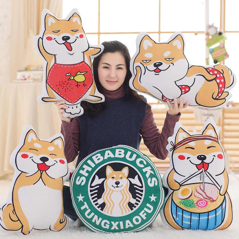 50 cm 2018 gaya baru anjing zodiak Cina mainan mewah kuning Shiba Inu anjing bantal lembut bantal hadiah Natal untuk Anak mainan