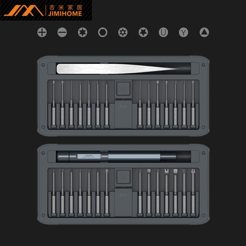 JIMI New 30 IN 1 Multi-purpose Precisions Screwdrivers Kit Repair Tool DIY Screw Driver Set w/ Tweezers Aluminum Alloy Handle