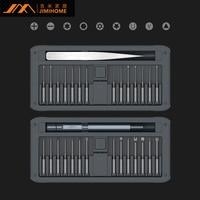 JIMI nowy 30 w 1 wielofunkcyjny precyzyjne zestaw wkrętaków Repair Tool DIY zestaw wkrętaków w/pincety uchwyt ze stopu aluminium w Śrubokręty od Narzędzia na