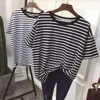 YouGeMan T-shirt Frauen Sommer Kleidung Koreanische Stil Ulzzang Harajuku Striped Kurzarm T-shirts Frau Beiläufige Grundlegende Hemd Top