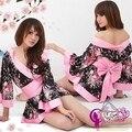 Леди сексуальное женское белье пижамы женского нижнего белья сакура униформа косплей японское кимоно сауна фото одежда Babydolls YXT1013