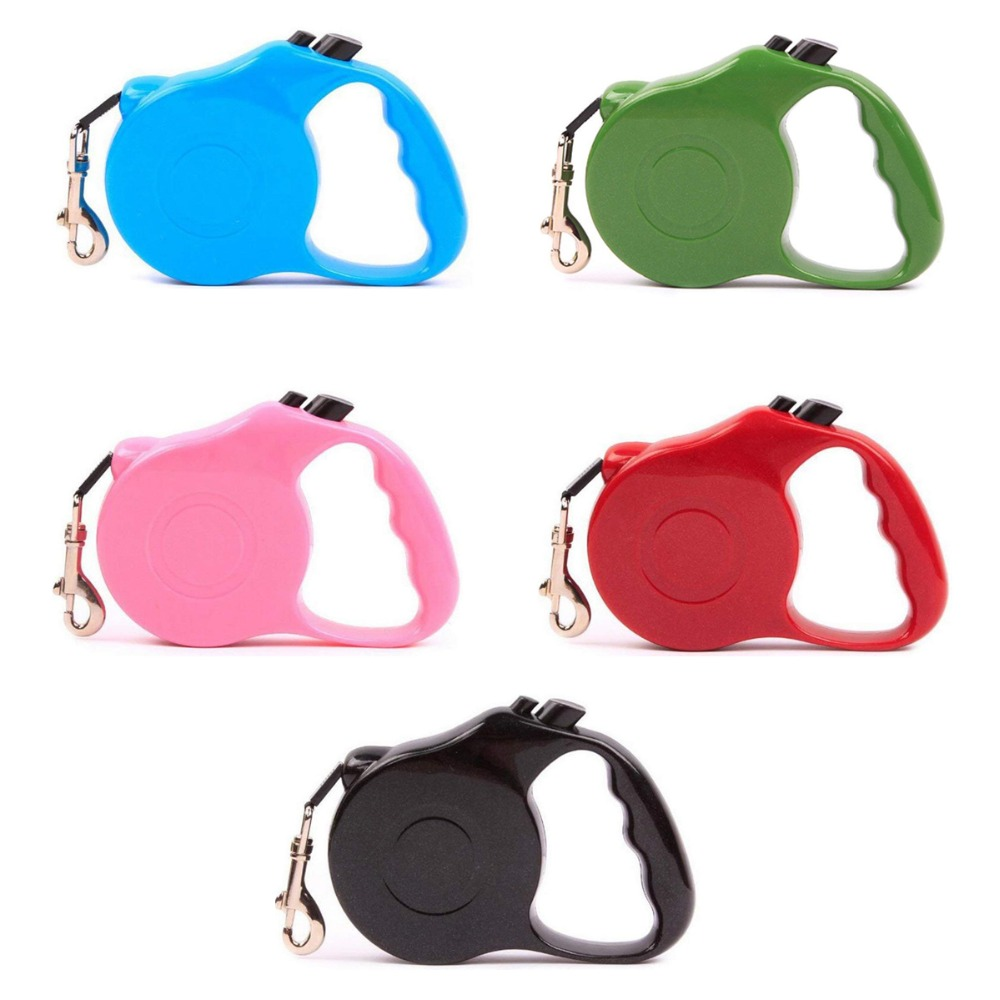 3/5M Retractable Dog Leash Training Puppy Automatic Extending Rope Walking Leashes Adjustable Dog Collar For Small Medium Dogs