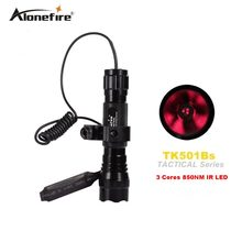 цена на AloneFire 501B 3 Cores 5W 850nm IR LED bulb Night Vision Infrared Light Bulbs for 501B flashlight torch