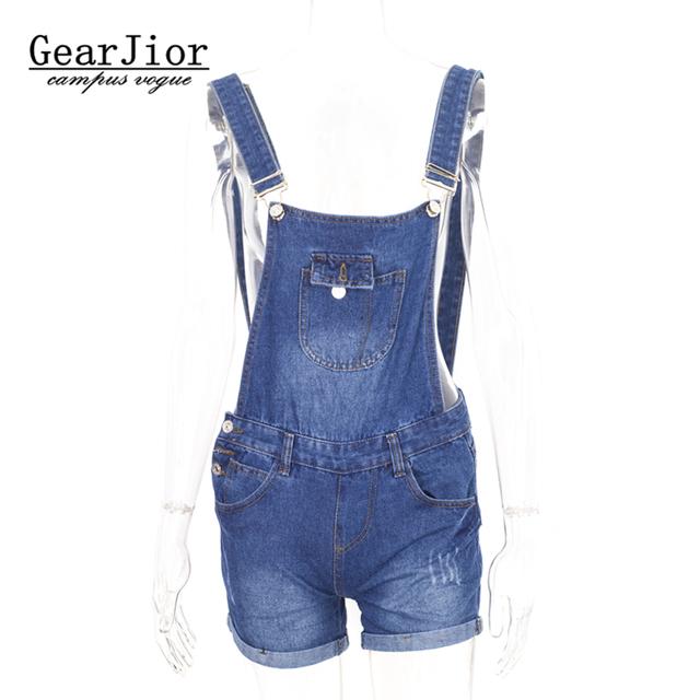 Das 2017 mulheres novas salope verão Bonito shorts jeans cintas mulheres shortall jumpsuits jardineira suspensórios macacões Soltos calça jeans cinta