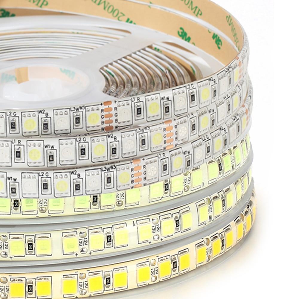DC12V LED streifen 5050 RGB RGBW RGBWW 96 LEDs/m, 120 LEDs/m 5 mt Hohe Helligkeit 5054 LED Streifen Licht Eis Blau, Kaltes weiß, Warmes weiß