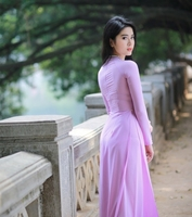aodai vietnam clothing cheongsam aodai vietnam dress vietnamese traditionally dress cheongsam modern women aodai ao dai purple