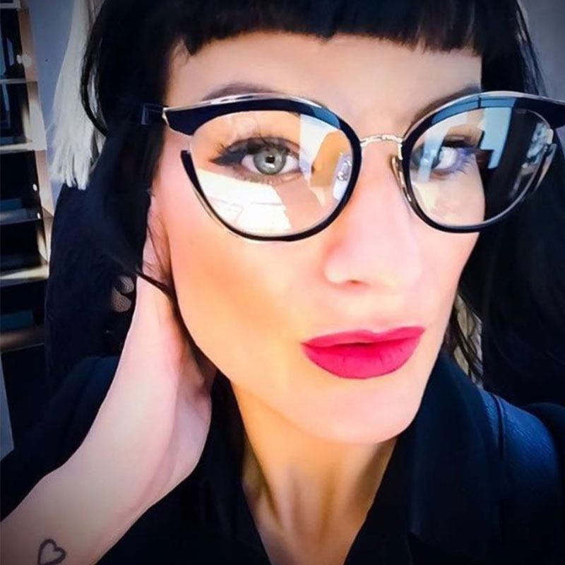 b8b78f86232a Knotolus 2018 New Women Clear Lens Sunglasses Ladies Fashion Luxury Cateye  Sun Glasses Transparent Reading Eyeglasses Oculos