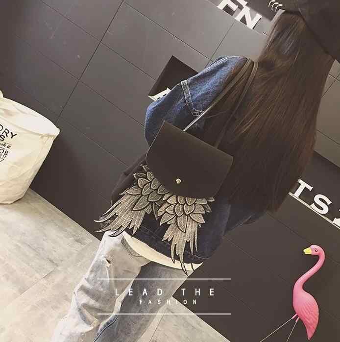 Женский модный рюкзак с крылом хорошего качества уникальный дизайн женская сумка из ПУ