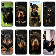 black Rottweiler puppy dog phone case For Samsung Galaxy A6s A6 A8 Plus A9s star lite A3 A5 A7 2016 2017 2018 soft cover
