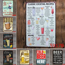 Ice Cold Free Beer Here Art Painting Poster Antique Metal Tin Signs Bar Pub Club KTV Home Wall Decorative