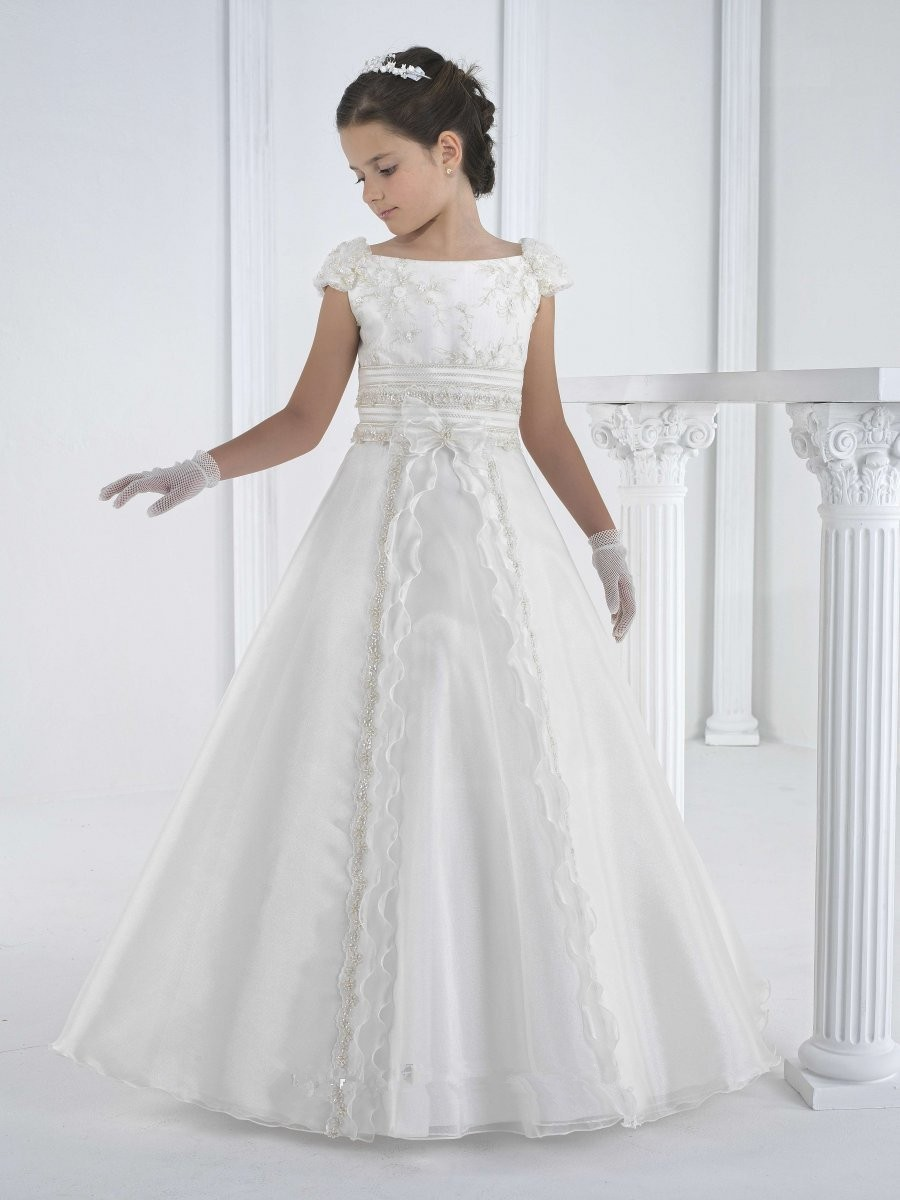 White Flower Girl Dresses Lace First Communion Dresses For Girls A-line Style Vestidos De Comunion