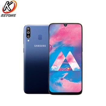Перейти на Алиэкспресс и купить Абсолютно Новый Samsung Galaxy M30 M305F-DS мобильный телефон 6,4 дюйма 4 Гб ОЗУ 64 Гб ПЗУ Восьмиядерный тройной задний фотоаппарат 13 МП + 5 Мп + 5 Мп Android теле...