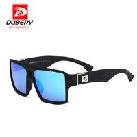 DUBERY Polarized Sunglasses Men Reflective Coating Square Wood Sun Glasses Brand Designer Oculos De Sol With