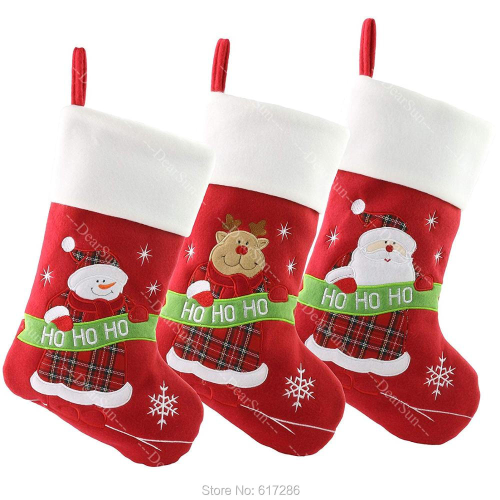 Personalized Stocking Embroidered Christmas Customized  Name DHL TNT Free shipping Gifts for Family