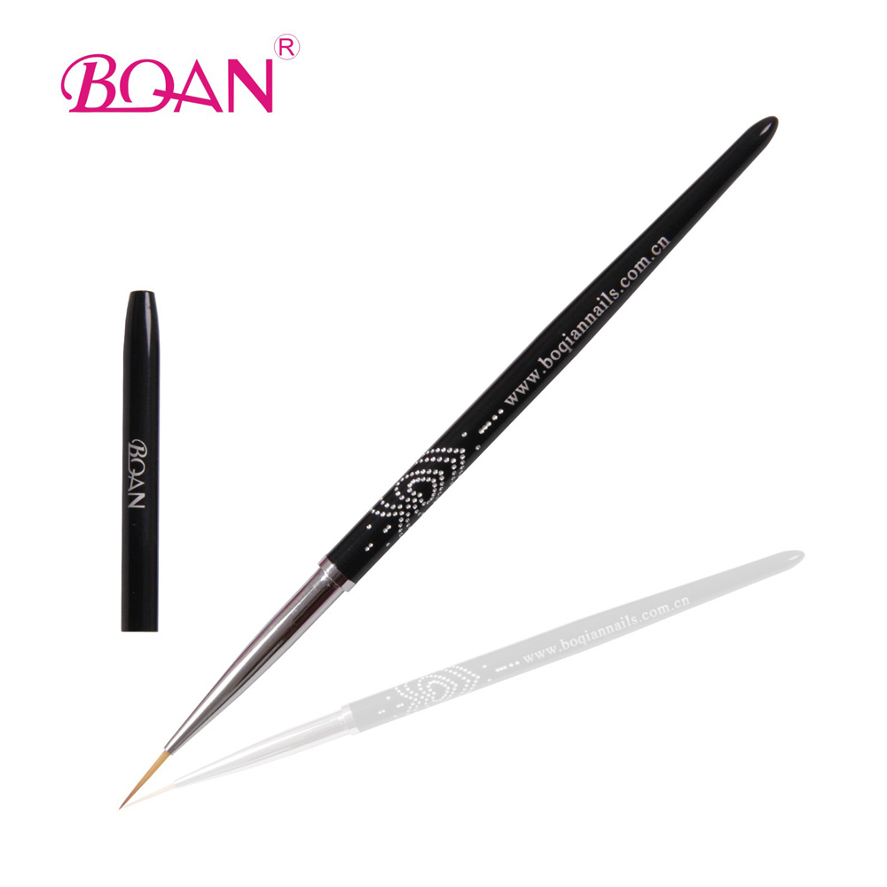 BQAN Professional 1 # / 3 # / 5 # Paint Brush Liner Pens Metal Handle Polish Painting Drawing Nail Art Brushes Thin New Design