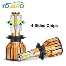 4 Sides LED Headlight H4 H7 H8 H11 HB3 9005 HB4 9006 LED Bulbs Canbus Error