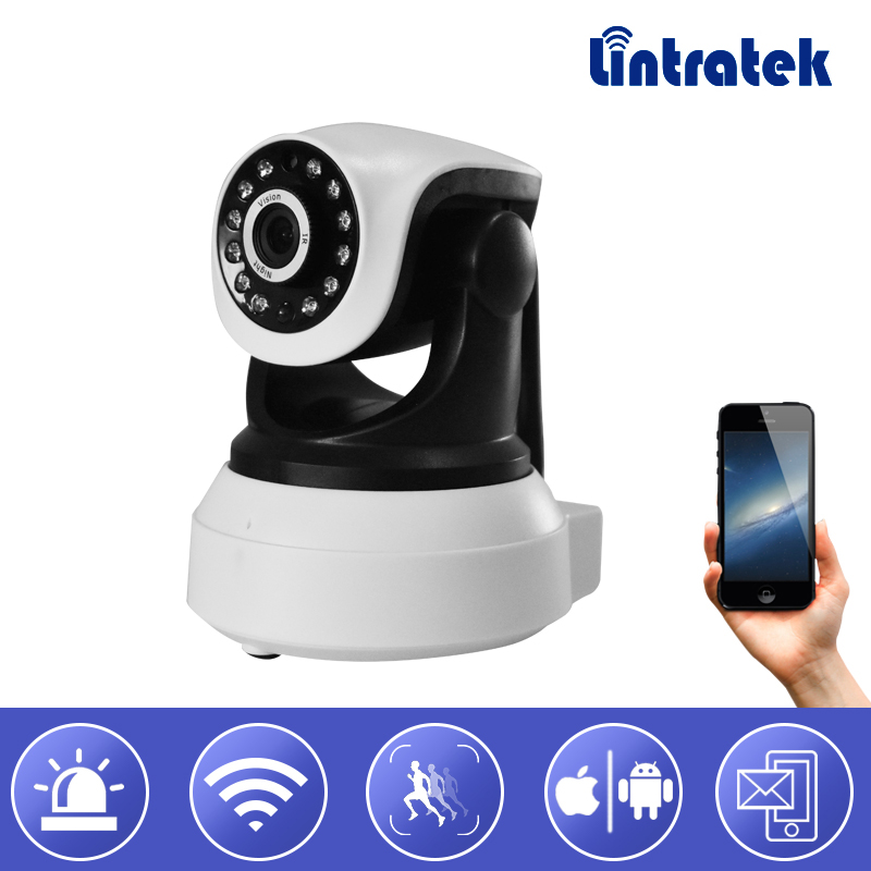Lintratek New Wifi IP Surveillance Camera HD 720P Wi-fi Security Mini CCTV Camera PTZ Onvif P2P Home Camera Baby Monitor Indoor wifi ip camera wi fi mini cctv onvif p2p wireless hd 720p security home surveillance camera night vision hd ip cam lintratek