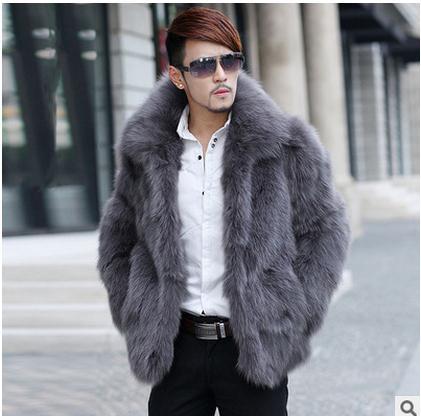 Бесплатная доставка Для мужчин Повседневное пальто из искусственного меха плюс Размеры зима и осень теплый мужской из искусственного лись...