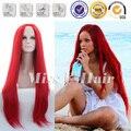Рианна прически длинный красный парик шелковистые прямые красный парик длинные синтетические кружева перед парик