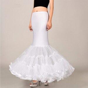 Image 2 - Mermaid Underskirt Petticoat Wedding Dress Accessories for Bridal Puffy Bottom Tulle One Hoop Crinolinas Para Boda