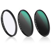 K&F Concept 58/67/77/82mm Lens Filter Neutral Density ND8 ND64 CPL Polarizer for Camera with Multi Layer Nano Coated