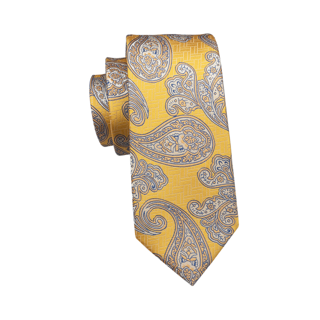 Brand Men Tie with Gift Box Luxury Paisley Silk Ties for Men 8.5cm Wide Neck Tie 4 Colors Mens Ties for Wedding Party  FD-004
