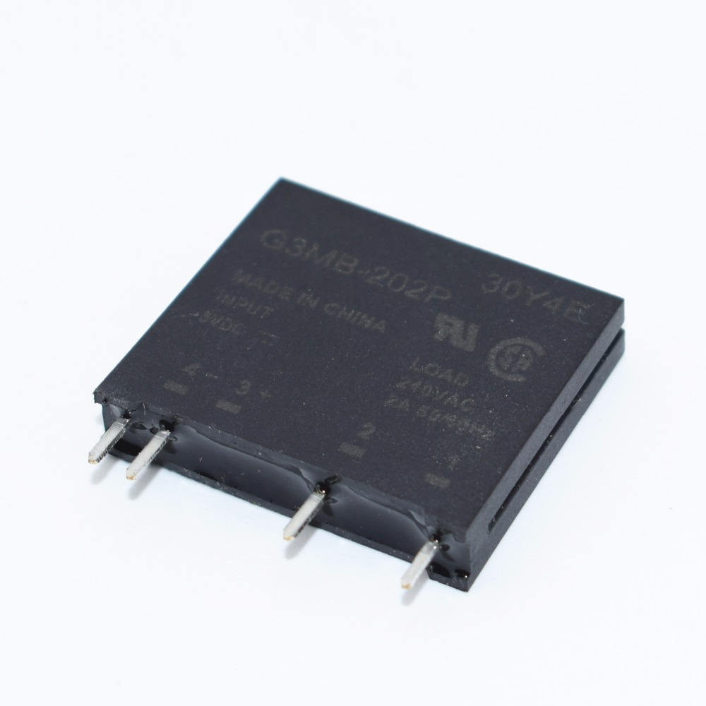 10PCS//LOT New Original Solid State Relay G3MB-202P DC-AC PCB SSR in 5VDC,Out 240V AC 2A