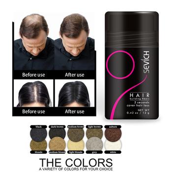 Hot! Keratyna utrata włosów włókno budowlane + aplikator Spray dodaj 12g optymalizator włosów gęsty wzrost włosów utrata włosów w proszku TSLM2 tanie i dobre opinie Y W F CN (pochodzenie) Produkt wypadanie włosów Powder 1 bottle Hair Building Fibers Organic Hair Fiber hair growth oil hair loss hair treatment