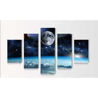 Cosmic Sky Diamond Painting 5 Pcs Multi Picture Full Square ROUND Diamond Embroidery Cross Stitch Floral
