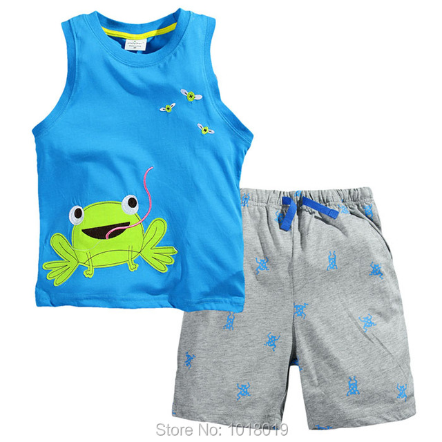 100% Cotton 2017 Branded Baby Boys Clothing Toddler 2pcs Children Suits Summer Baby Kids Clothes Clothing Sets Short Sleeve Boys