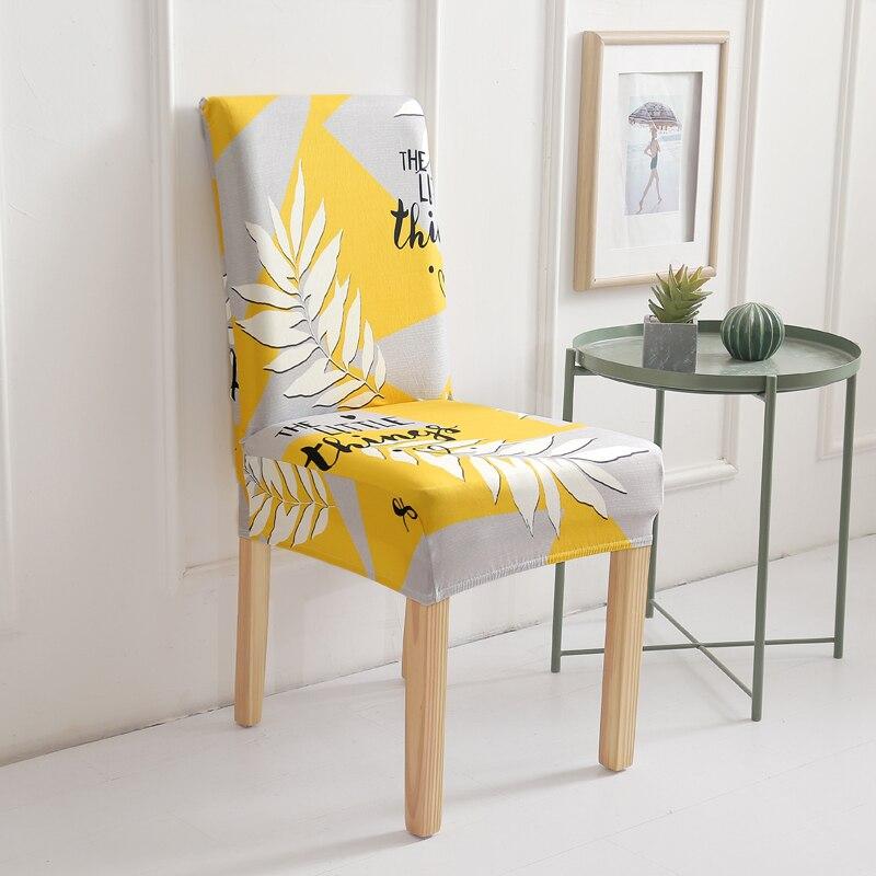 Housse de chaise couleur jaune moutarde