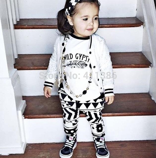 ST189 2017 Nowa dziewczyna przyjazdu i chłopców ubrania ustawić długi rękaw + Spodnie sowa wzór zestaw noworodka ubrania dla dzieci garnitur dzieci odzież 46