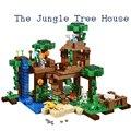 LEPIN 18003 minecrafted serie de La Selva Árbol Casa Edificio modelo Bloques compatible original 21125 Mi mundo Juguetes para los niños
