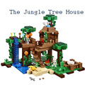 LEPIN 18003 minecrafted series The Jungle Tree House model Building Blocks compatible original 21125 My world Toys for children