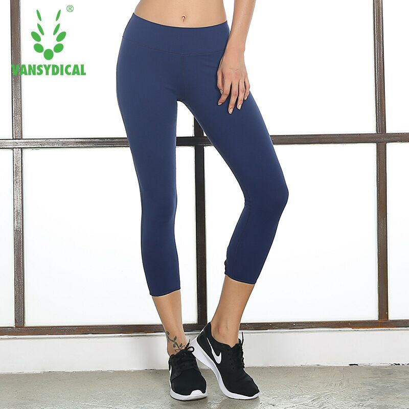 2018 New Style Running Pants Women Breathable Elastic Femme Sports Pants High Waist Lady Tight Yoga Pants Fitness Plus Size XL