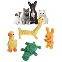 4 Pz Giocattoli Cane Animale Cotone Corda Corde Giocattoli per le Piccole cane Gatti Cucciolo Pet Pulizia Dei Denti Strumento per Cani Pet forniture
