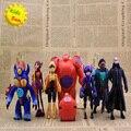 2017 big hero 6 7 pcs/set baymax figuras dos desenhos animados do filme modelo action figure brinquedos para presente de natal