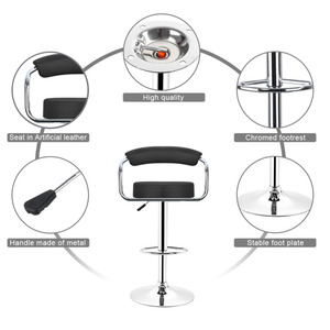 Image 5 - JEOBEST 2 pcs/pair מתכוונן מעלית גז כיסאות בר מודרני עור מפוצל חלול משענת כיסא חדש הגעה HWC