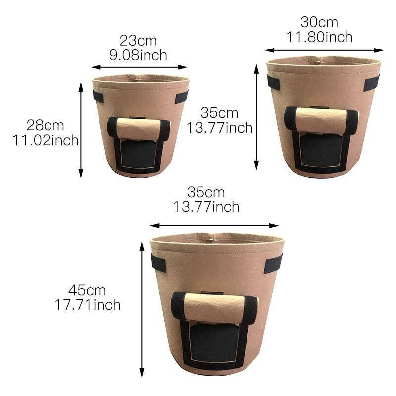 Image 2 - Сумка для выращивания картофеля с ручками, цветочный горшок для выращивания овощей, сумки для домашнего сада, аксессуары для посадки, ящик для выращивания, ведро, горшок-in Гроубэги from Дом и животные