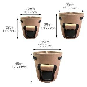 Image 2 - Bolsa de cultivo de patatas tomates con asas maceta para verduras flores bolsas plantación de jardín doméstico accesorios Caja de cultivo cubeta