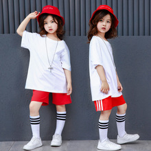 Casual Street Dance Costumes Children Jazz Dance Costume Kids Modern Hip Hop Clothing White DanceWear Outfits Stage Costumes boys modern jazz dancewear outfits kids hip hop party ballroom dance costumes sweatpants hoodie costumes tracksuit outfits
