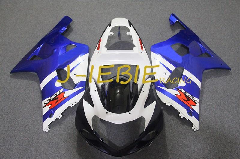 Black white blue Injection Fairing Body Work Frame Kit for SUZUKI GSXR 600/750 GSXR600 GSXR750 2001 2002 2003