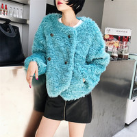 2017 New Style High-end Fashion Women Faux Fur Coat Only in ANGLING C17