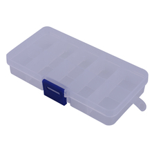 Swivels Storage Field Case Equipment 10 Compartments Fishing Sort out Containers Transportable Clear Plastic Fishing Lure Baits Hooks