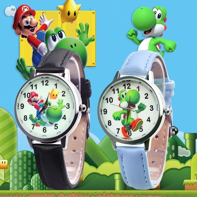 2019 Cute 3D Cartoon Lovely Kids Girls Boys Children Students Super Mario Quartz Wrist Watch Very Popular Watches