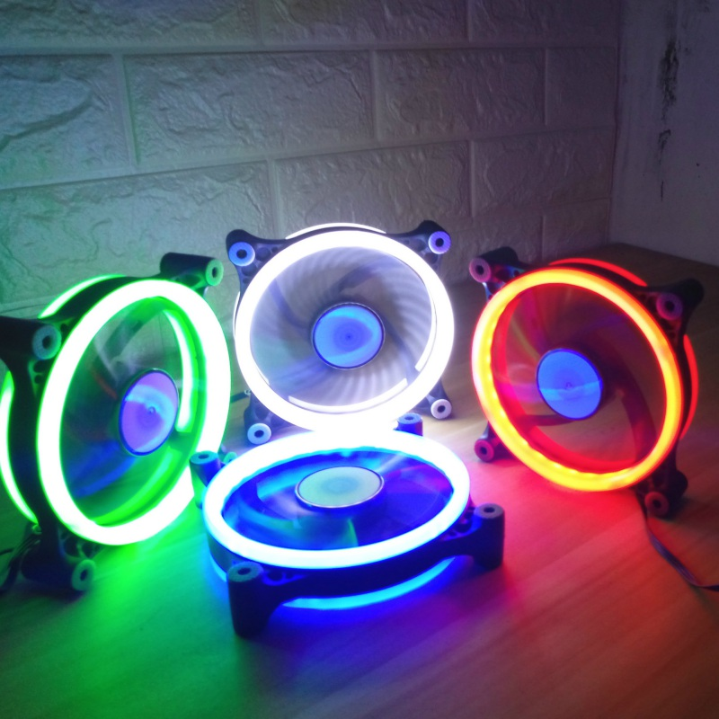 Luminous 120mm LED Computer Fan Water Cooler 3 Pin 1200RPM Fan Cool Glare Red Blue Green White 38CFM Cooler Fan For PC Case